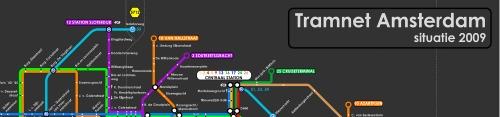 Plano de los tranvías de Amsterdam